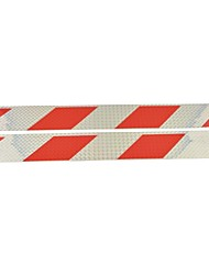 preiswerte -Auto LKW Universal-Parallelogramm reflektierende Aufkleber (2 Stück) - Silber&rot