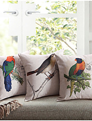 cheap -Linen Cotton  Printing Lovebird  Cushion