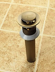 cheap -Faucet accessory - Superior Quality - Vintage Brass Pop-up Water Drain Without Overflow - Finish - Antique Brass