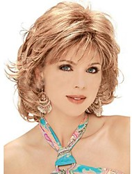 cheap -Synthetic Wig Curly Asymmetrical Haircut Synthetic Hair Natural Hairline Golden / Blonde Wig Women's Short Capless