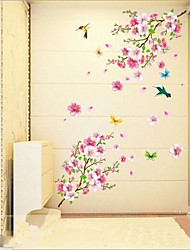 cheap -Animals Botanical Romance Still Life Fashion Wall Stickers Plane Wall Stickers Decorative Wall Stickers,Vinyl Material RemovableHome