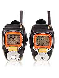 cheap -22 Channels Sliver Wrist Watch Style A Pair Walkie Talkie with Big Backlight LCD Screen