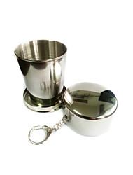 Недорогие -Походная чашка Один экземляр Складной Алюминиевый сплав для Отдых и Туризм На открытом воздухе