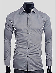 Majica Muškarci Dnevno Formalan Rad Jednobojni Dugih rukava Pamuk Drugo