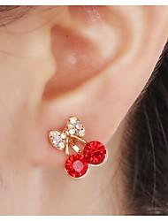 Feminino Brincos com Clipe bijuterias Strass Liga Jóias Para Casamento Festa Diário Casual