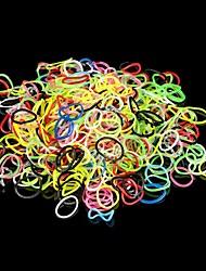600pcs silicone stile telaio bracciali banda 600pcs bande di fai da te arcobaleno di colori, 1 sacchetto s-clip e 1 gancio +1 scatola