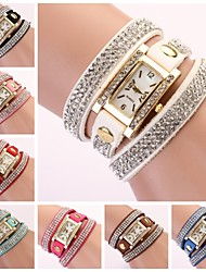 cheap -Women's Watch Rectangular Diamond Dial Rhinestone Band Strap Watch Cool Watches Unique Watches Fashion Watch
