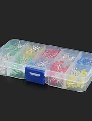 3mm + 5mm Red / Yellow / Blue / Green / White LED Diodes Kit (300 Pieces)