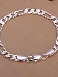 abordables -Homme Chaînes & Bracelets bijoux de fantaisie Plaqué argent Bijoux Pour Mariage Soirée Quotidien Décontracté Regalos de Navidad
