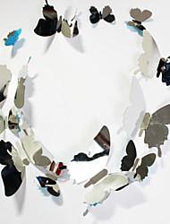 abordables -nuevo espejo decoración del hogar de la mariposa de PVC etiqueta de la pared 12pcs / set
