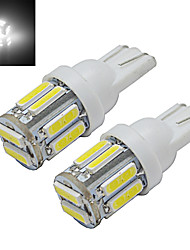 cheap -1W T10 Decoration Light 10 SMD 7020 100-150 lm Cold White 6000-6500 K DC 12 V