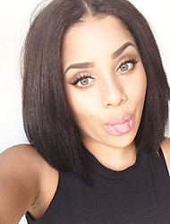 cheap -10-24Inch Brazilian Virgin Hair Bob Straight Natural Color Human Hair Lace Front Wig& Full Lace Wigs