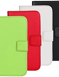 cheap -Case For Samsung Galaxy Samsung Galaxy Case Card Holder Wallet with Stand Flip Full Body Cases Solid Color PU Leather for S4 Active