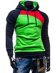 economico -Sets Activewear Uomo Casual / Da ufficio / Formale / Attività sportive / Taglie forti A quadri / Tinta unita Manica lunga Misto cotone