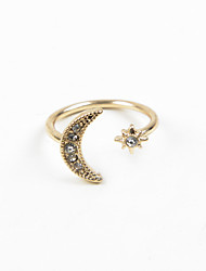 cheap -Fashion Women Sun & Moon Open Adjustable Ring