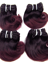 "4Pcs/Lot 8"" Brazilian Virgin Hair 1B/99g Ombre Hair Short Body Wave Human Hair Extensions"