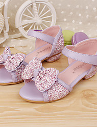 cheap -Girls' Shoes Dress Comfort Peep Toe Leather Sandals Pumps/Heels More Colors available