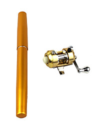 Metal The Fish Wheel Pen Fishing Rod Fishing Sea Rods Small Los Angeles Pole Golden