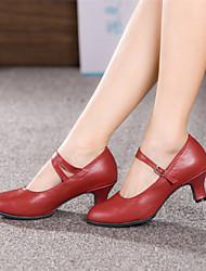 Недорогие -Женская обувь - Кожа - Номера Настраиваемый (Черный/Красный/Серебряный/Золотой) - Современный танец