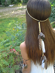 cheap -Native American, Feather Headband, Hippie Headband, Boho Headband, Bohemian Headband, Indian Headband