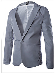 cheap -Men's Classic & Timeless Blazer-Solid Colored,Pure Color