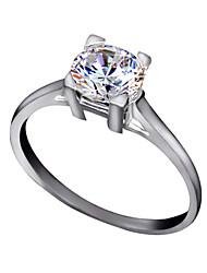 baratos -Maxi anel Cristal imitação de diamante Liga Clássico Prata Dourado Jóias Casamento Festa Diário Casual 1peça