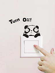 cheap -Animals Wall Stickers Plane Wall Stickers Light Switch Stickers, PVC Home Decoration Wall Decal Wall