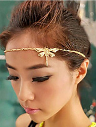 Women's Alloy Head Chain,Vintage Cute Party Casual All Seasons Gold