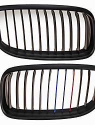 m-farve mat sort gitter grill nyre til BMW E90 E91 3 serie 09-11