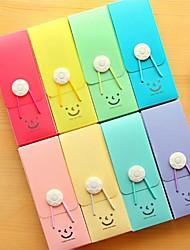 economico -carina sorridente astuccio di plastica con cavo elastico colore casuale