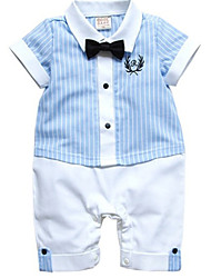 Boy's Cotton Blend Clothing Set,Summer / Spring / Fall Striped