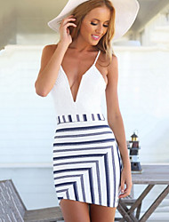 WOMEN - セクシー/カジュアル - ドレス ( ポリエステル ストラップ - ノースリーブ