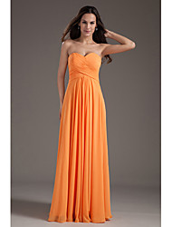 cheap -A-Line Sweetheart Floor Length Chiffon Bridesmaid Dress with Criss Cross by Thstylee