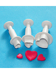 FOUR-C Sweet Heart Cake Decorating Plunger Cutter Set,Cake Design Cutters,Classic Cake Equipment/Tools
