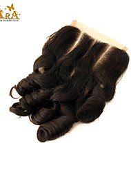 """10""""-20"""" Black Full Lace Curly Human Hair Closure Medium Brown Chinese Lace 60g/piece gram Cap Size"""
