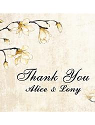 Недорогие -Плоские Свадебные приглашения Спасибо карты Имя, надпись на заказ
