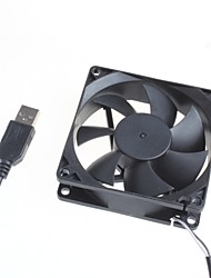 8Cm Silent Fan / Computer Server Chassis Cooling Fan 5V - Black Color