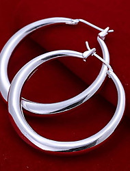 cheap -Women's Hoop Earrings - Silver Plated Dainty, Fashion Silver For Party / Daily / Casual
