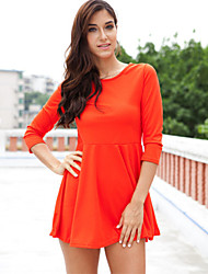 cheap -Women's Dress - Solid Colored