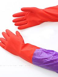 Недорогие -50 см длинные рукава резиновые латексные перчатки посуда для кухни посуда для чистки водонепроницаемая