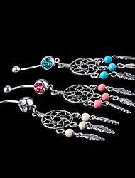 abordables -Cristal Anneau du nombril / piercing au nombril - Cristal Mode Femme Blanc / Bleu / Rose Bijoux de Corps Pour Quotidien / Décontracté