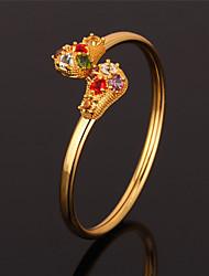 abordables -Femme Manchettes Bracelets - Strass, Platiné, Plaqué or Bracelet Or / Argent Pour Mariage Soirée Quotidien