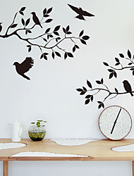 cheap -Wall Stickers Wall Decals, Style Tree Branch Bird PVC Wall Stickers