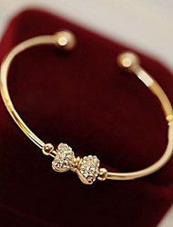 Lucky Star Women's Elegant Rhinestone Bow Bracelet Elegant Style