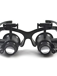 cheap -Binoculars Magnifiers/Magnifier Glasses Headset/Eyewear Generic 10X /20X 15mm Plastic