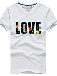 Недорогие -Человек пара с летней короткий рукав футболки любовное письмо # 001
