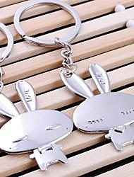 Недорогие -милый кролик свадьбы кольцо для ключей брелок для дня любовника Валентина (одна пара)