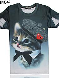 preiswerte -T-Shirts ( Multi-color , Baumwolle ) - für Freizeit/Sport - für MEN - Bedruckt - Kurzarm