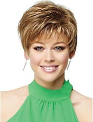 abordables -sin tapa de alta calidad a corto ondulado mono mejores pelucas de cabello humano 6 colores para elegir