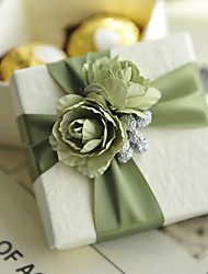 Cubic Card Paper Favor Holder With Flowers Favor Boxes Gift Boxes-6